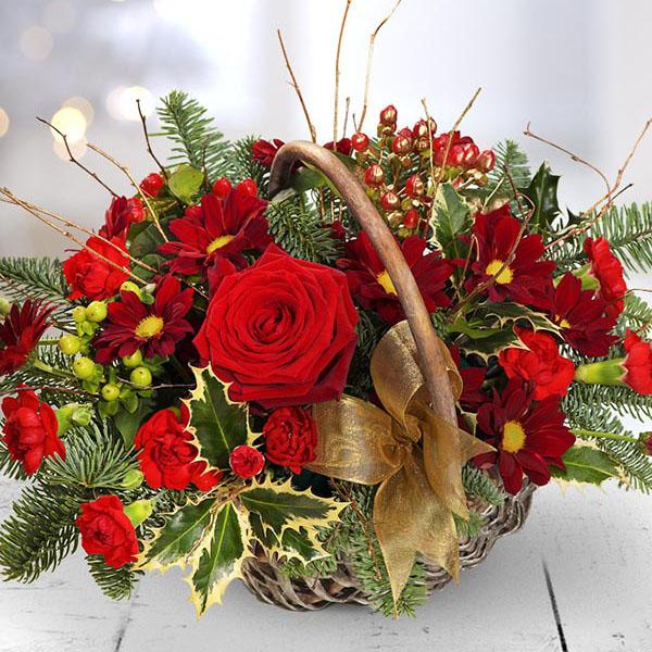 Wedding Flowers Cheltenham: Cheltenham-Flowers-Festive Basket